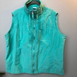 Columbia sport zip vest Size 2X Teal Color
